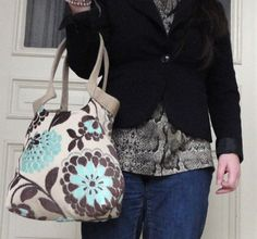 Mint and chocolate tapestry hobo bag SPRING FASHION by madebynanna, $63.00