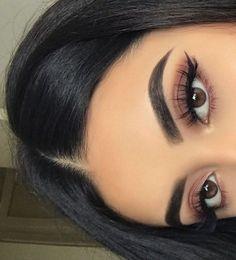 Gorgeous Makeup: Tips and Tricks With Eye Makeup and Eyeshadow – Makeup Design Ideas Makeup Eye Looks, Makeup For Brown Eyes, Cute Makeup, Gorgeous Makeup, Pretty Makeup, Brown Eyeshadow, Full Face Makeup, Makeup Goals, Makeup Inspo