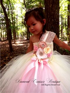 Champagne, Ivory, and palest pink flower girl tutu dress now available at www.diamondtreasureboutique.com Flower Girl Tutu, Flower Girl Dresses, My Beautiful Daughter, Pale Pink, Enchanted, Pink Flowers, All Things, Modeling, Little Girls