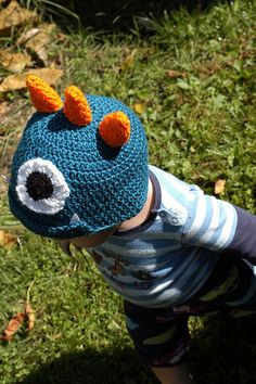 Monster Hat Crochet pattern from  thetraintocrazy