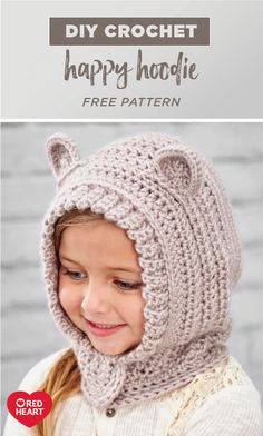 This DIY Crochet Happy Hoodie is as cute as can be! Perfect for warming up your little ones this winter, you won't believe how easy this handmade hat is to make—all thanks to yarn from Red Heart and this free pattern. If you're looking for creative projects for the new year, make sure to check out this DIY!