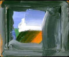 Howard Hodgkin (b1932) is considered to be one of England most important painters. With their maximalist gestures and saturated colors, his more intimately scaled paintings appear jewel-like, while larger works are opulent and theatrical. With incorporated frames and painted wooden supports, they operate as both objects and images.