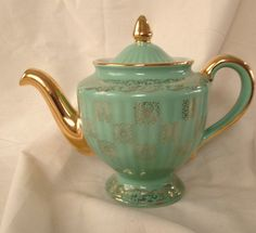 Vintage Hall Teapot Monterey Los Angeles Light by LalasCollections