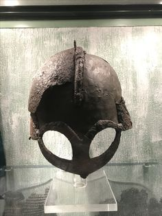 Viking helmet from Gjermundbu, Norway.