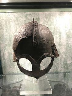 Viking helmet from Gjermundbu, Norway.
