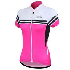 1bf130c33 Santic Women Bicycle Cycling Jersey Short Sleeve Jersey Ladys Biking Clothes  Color Pink Size L