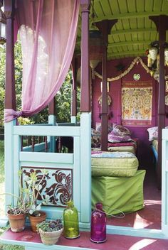 Boho-gypsy theme.  Love the colors