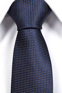 Silk Slim Necktie - Striped pattern in navy blue - Notch HILDING Notch MA6U0