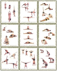 Yoga Pose Cards - Print and Create Choose a category below. Print on thick card paper or photo paper. Cut out the cards and lay them in front of you in sequences of yoga poses. Use the cards to plan yoga sequences or to practice them. Yoga Poses For Men, Yoga Poses For Beginners, Yoga For Men, Basic Yoga Poses Chart, Yin Yoga, Yoga Meditation, Asana, And So It Begins, Advanced Yoga