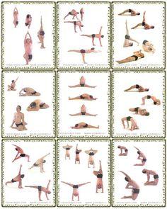 get the printable chart of popular 26 bikram yoga poses