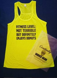 Hit the gym in this great fitness tank!! Comfy and funny!!
