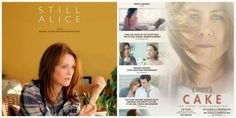 I saw these two films Julianne Moore in #StillAlice and Jennifer Aniston in #Cake within days of each other and couldn't help but be struck by the similarities. Both women are dealing with harsh realities not of their own making.  Both women...READ MORE  Tinsel & Tine (Philly Film & Food Blog): Women on the Edge: STILL ALICE and CAKE