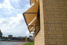 Haags Gemeente Museum, Renovatie, Berlage gebouw.   Uitval zonneschermen.Zonwering Westland Projecten. www.zwprojecten.nl