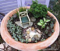 Fairy garden ideas.