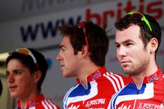 Mark Cavendish and Peter Kennaugh - LOCOG Test Events for London 2012 - Road Cycling
