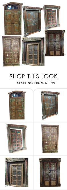 """""""Handcarved Welcome Door"""" by era-chandok ❤ liked on Polyvore featuring interior, interiors, interior design, home, home decor, interior decorating, sale, offer, antiquefurniture and antiquedoor"""