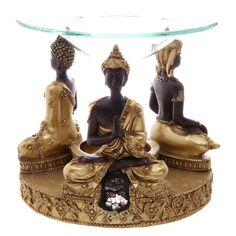 Decorative Gold and Brown Thai Buddha Oil Burner by getgiftideas