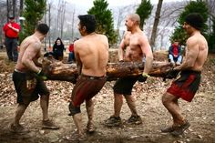tough mudder: Carry your WOOD!!