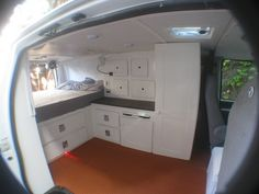 IMG_0163 | Flickr - Photo Sharing! Many pics of a van conversion. Love some of the layout.