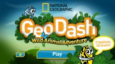 Geo Dash Wild Animal Adventure is a free app put out by National Geographic that is an educational game about animals. In order to continue playing, you must learn interesting facts about animals to proceed to higher levels. Helps kids to think about the different types of animals, their habitats, and what they eat and can do.