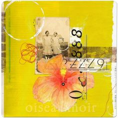 Shelley Kommers - Agnes and Annie mixed media collage print / LOVE MIXED MEDIA