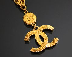 Vintage Mid 1970s - Mid 1980s CHANEL Gold Necklace by fashionsquid
