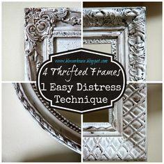 4 Thrifted Frames, 1 Easy Distress Technique | Bless'er House