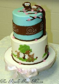 That Really Frosts Me: Woodland Shower Cake