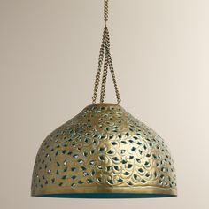 Desiree Metal Bell Pendant Lamp   World Market