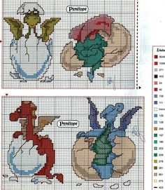 Cross-stitch Dragon Hatchlings                                                                                                                                                      More