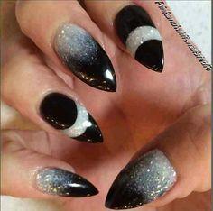 Almond Galaxy nails