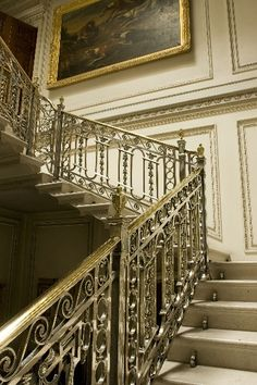 Manderston House, Duns, Scottish Borders, Scotland, is the home of Adrian Bailie Nottage Palmer, 4th Baron Palmer. It was completely rebuilt between 1901 and 1903 and has sumptuous interiors with a silver-plated staircase. Wikipedia