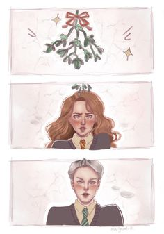 Dramione under the mistletoe ✨💚✨❤️✨ ————- Commissions are OPEN! Tom Felton Harry Potter, Harry Potter Ships, Harry Potter Anime, Harry Potter Fan Art, Draco And Hermione, Draco Malfoy, Hermione Granger, Harry Potter Drawings, Harry Potter Pictures