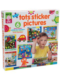 Tots Sticker Pictures | Three colors of peel-and-stick boards make it easy for youngsters to create a cool collage while learning about colors. Ages 18 months and up. $13
