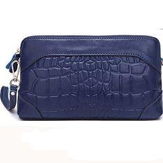 Borgasets Femme Brocade Zip Around Wallet Wristlet Clutch - - rose 4tOk0rq,