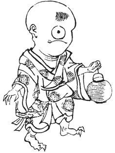 Hitotsume-kozō (一つ目小僧) from the Bakemonochakutōchō, 1788 by Kitao Masayoshi