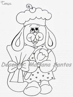 Pintura Country e Motivos Infantis: Semaninha da Coelhinha!