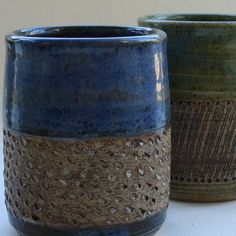 Textured Tumblers by cdbc, via Flickr