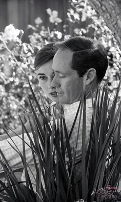 Audrey Hepburn and husband Mel Ferrer photographed by Don Ornitz at their Beverly Hills home in California, Audrey Hepburn Born, Audrey Hepburn Photos, Classic Actresses, British Actresses, Hollywood Actresses, Golden Age Of Hollywood, Old Hollywood, The Nun's Story, 1992 Film