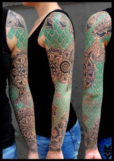 Sleeve by Kreatyves #InkedMagazine ......AWESOME!!!! Love the color in it