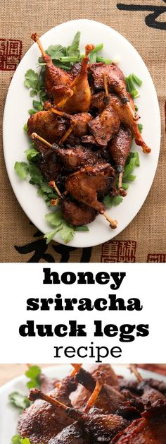 These are so amazingly delicious. You have to try this honey sriracha duck legs recipe out, asap. My family loves it. Duck Leg Recipes, Game Recipes, New Recipes, Healthy Recipes, Frugal Meals, Cheap Meals, Sriracha Sauce, Appetizers For Party, Main Meals