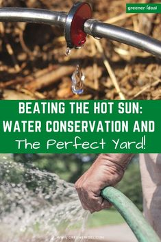 With the summer's heat wave fast approaching and many of our countries regions enforcing water restrictions, how do you conserve water and yet still have your ideal perfect yard? Here are five tips to help you keep your yard looking great throughout though's long hot summer days. Learn How To Beat The Hot Sun, Save Water & Have a Perfect Yard. #Gardening #SaveWater #WaterSavingTips #Yard #Landscaping #LandscapingTips #garden #Summer #SummerGardening