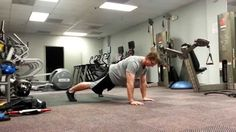 Plank elbow touches: Set up in a pushup plank and alternate taps on the elbow. The key is to maintain tightness and limit any excess movement. www.roypumphrey.com  #plank #core #abs #fitness #health #workout #plank
