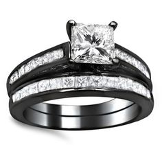 @Overstock - 14k Black Gold 1 3/4ct Princess Cut Channel Diamond Bridal Set (G-H, SI1-SI2) - White diamond bridal set14k black rhodium-plated jewelryClick here for ring sizing guide  http://www.overstock.com/Jewelry-Watches/14k-Black-Gold-1-3-4ct-Princess-Cut-Channel-Diamond-Bridal-Set-G-H-SI1-SI2/8774962/product.html?CID=214117 $3,495.00