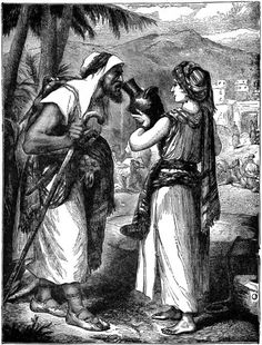 Rebekah Provides a Drink to Abraham's Servent