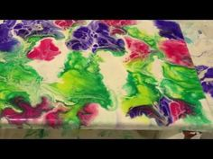 Dip paint (video #4) Acrylic paint With Primary Elements - YouTube