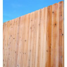 8 ft. x 6 ft. Eastern White Cedar Dog-Ear Fence Panel-235472 - The Home Depot