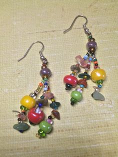Boho Multi Colored Earrings - Bohemian