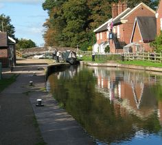 Shropshire Union Canal at Tyrley Locks near Market Drayton