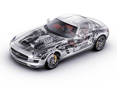 2010-2014 Mercedes-Benz SLS 63 AMG Worldwide (C197) - Probable CAD generated image